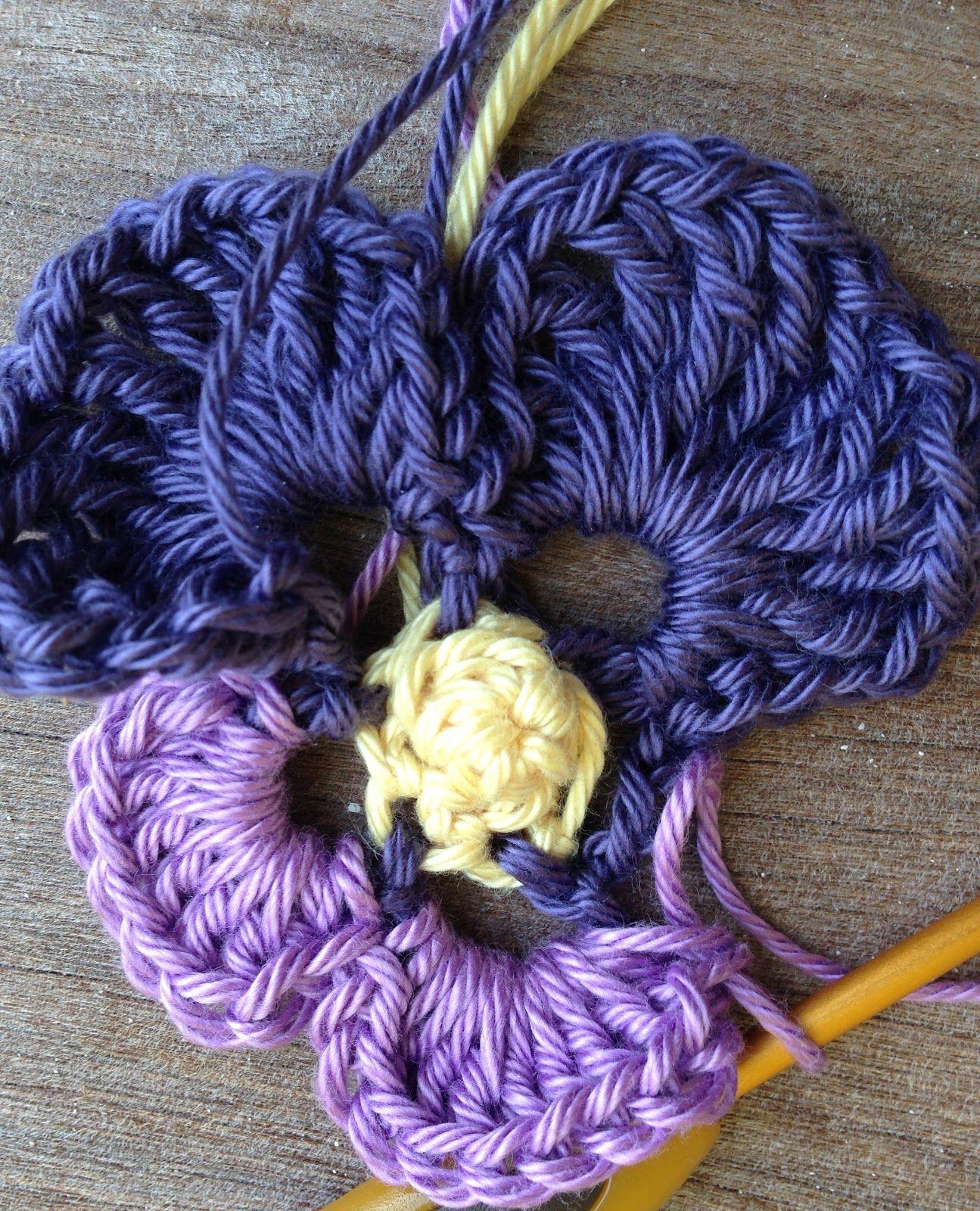 Hermosa Patrón De Crochet Pansy Elaboración - Ideas de Patrones de ...