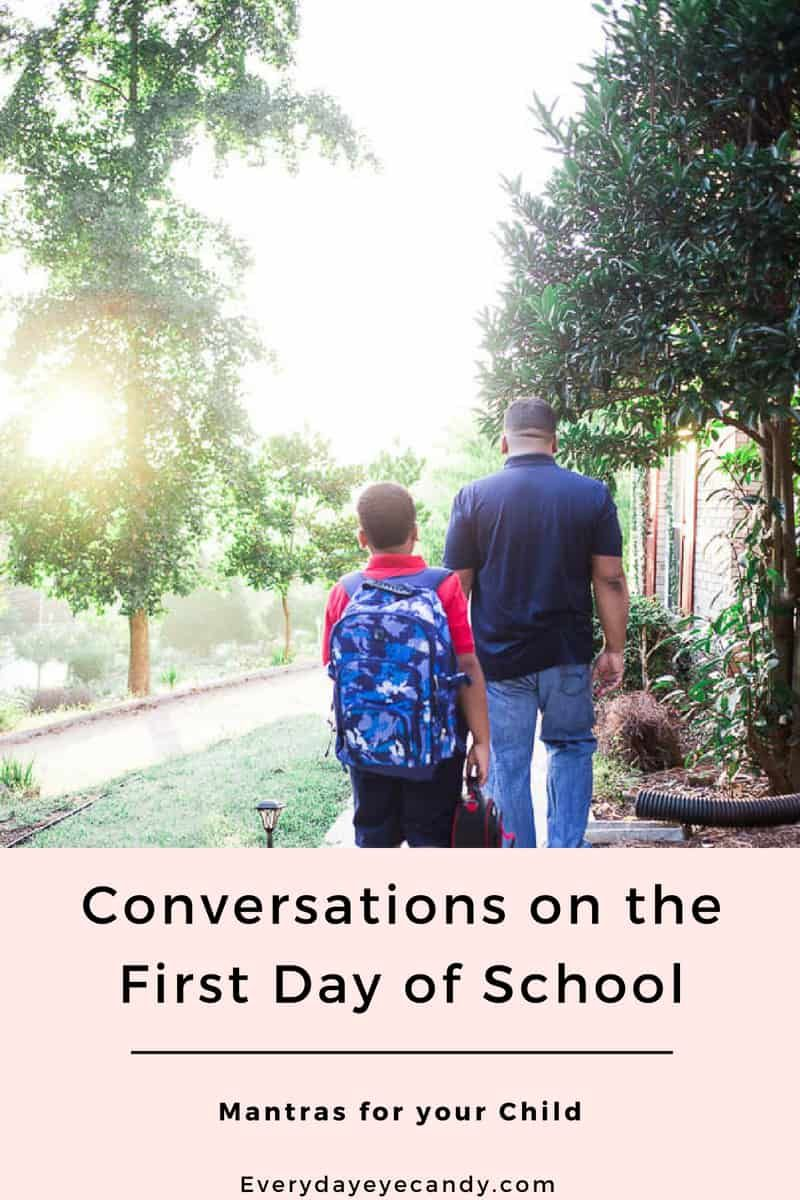 Conversations on the First Day of School | Baby, Child