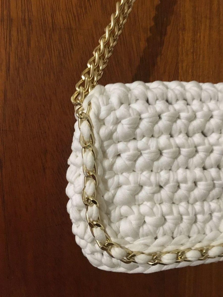 2b2e4a26ee0 Linda bolsa de crochê com aba. Material da bolsa: Fio de malha Com alça