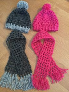 Crochet Hat and Scarf Pattern for American Girl Dolls made Simple #americandolls