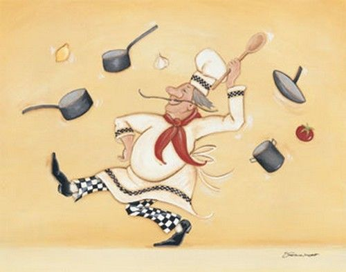 Art deco cuisiniers etc art de rue pinterest - Chef cuisinier dessin ...
