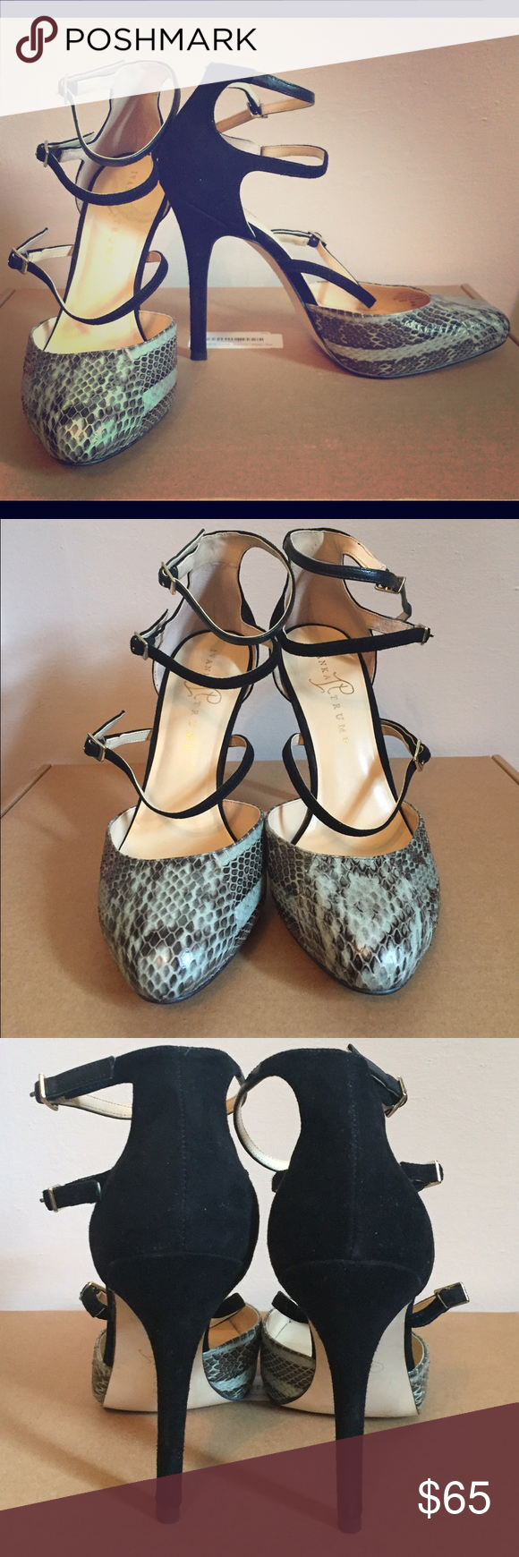 Ivanka Trump Stiletto Heels Beautiful mint green and black Ivanka Trump stiletto heels! Surprisingly comfortable and a great accessory for work or play! Only worn a few times. Ivanka Trump Shoes Heels