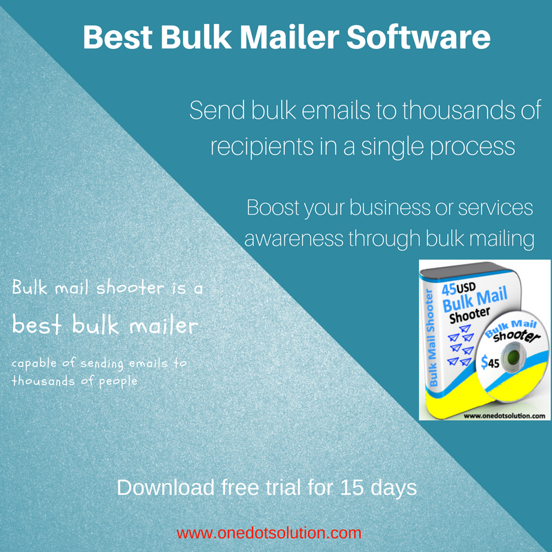Bulk mail shooter is an advanced software than can help in improving