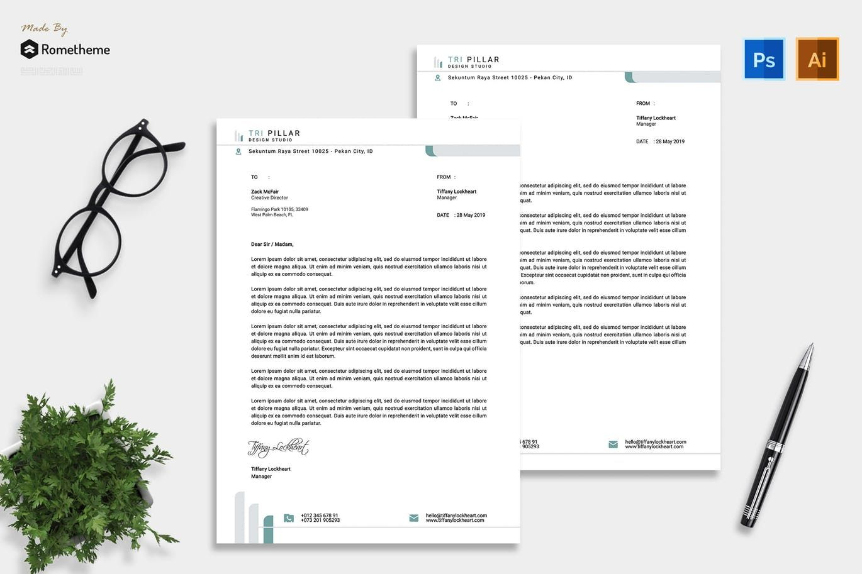 Letterhead Template AI, EPS, PSD. Download Letterhead