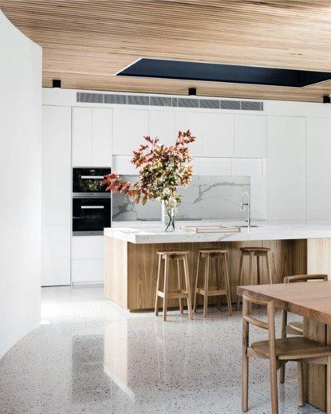 Top 60 Best Wood Ceiling Ideas Wooden Interior Designs Interior Design Kitchen Modern Kitchen Design Kitchen Interior