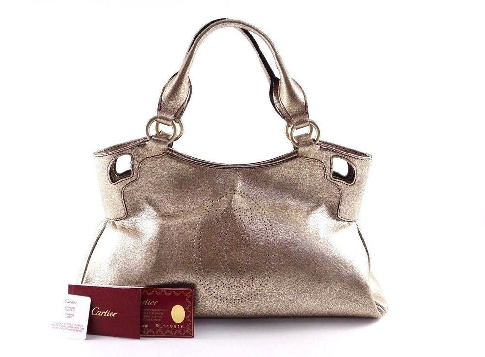 7b79113c8721 Cartier France Marcello De Gold Tote Bag Authentic  Cartier  goldcolor   totebag