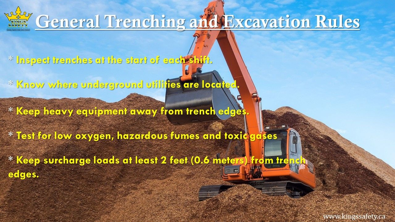 Implement a safe system of work before excavation work