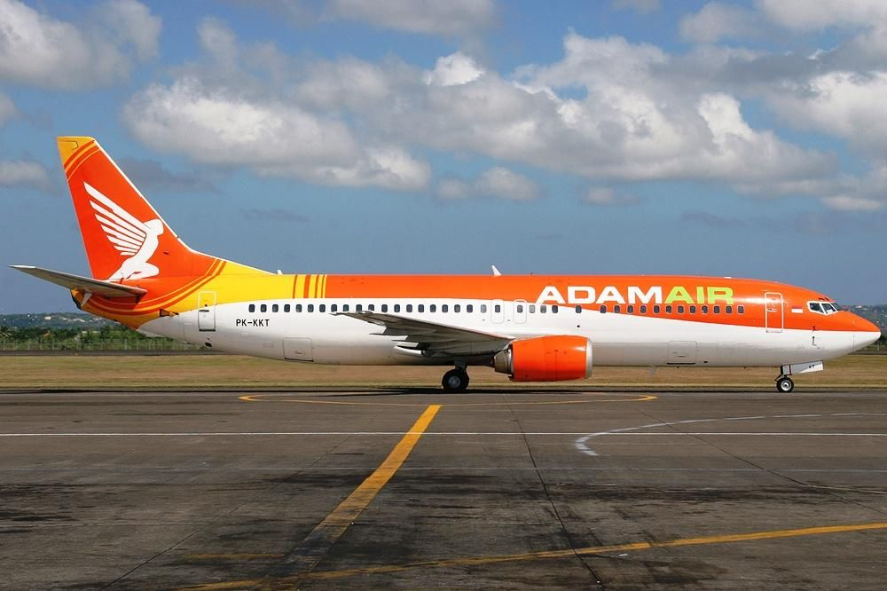 avião da companhia Adam Air