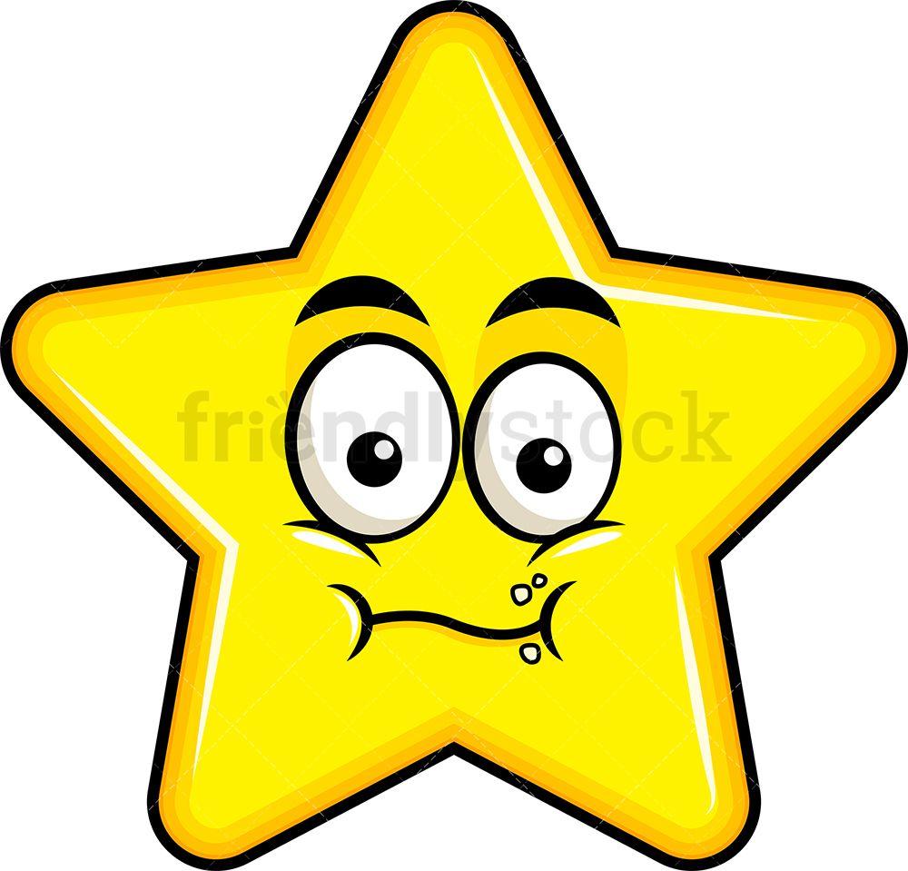 Chewing Star Emoji Cartoon Clipart Vector Friendlystock Star Emoji Cartoon Clip Art Emoji