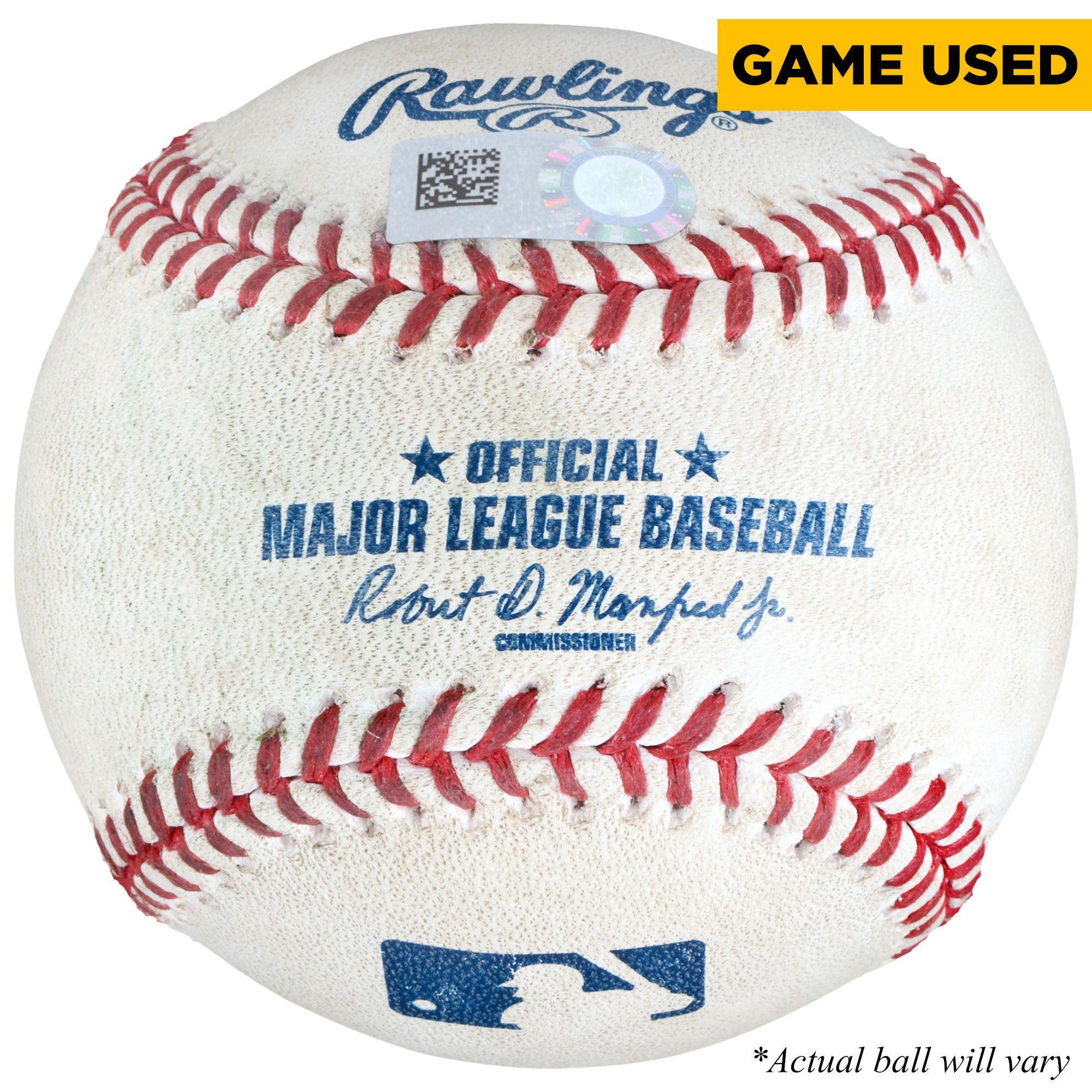 Mlb James Shields San Diego Padres Fanatics Authentic Game Used Strikeout Baseball Vs Arizona Diamondbac Boston Red Sox Game Rangers Baseball Oakland Athletics