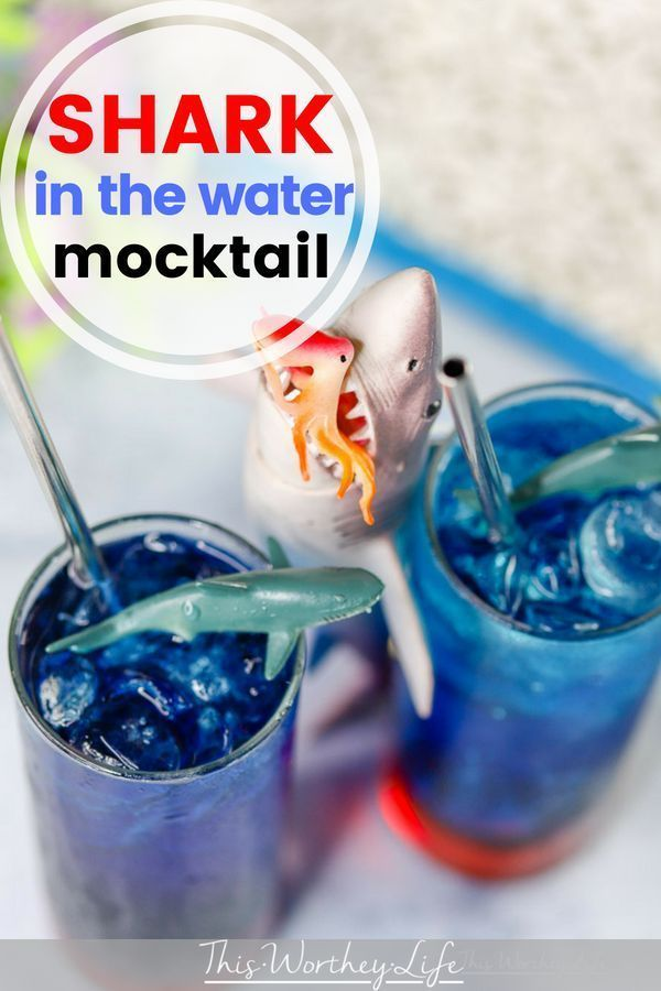 Shark Week | Blood In The Water Shark Drink - This Worthey Life - Food, Entertaining, Travel + Parenting Lifestyle Blog with Tatanisha + Derrick Worthey