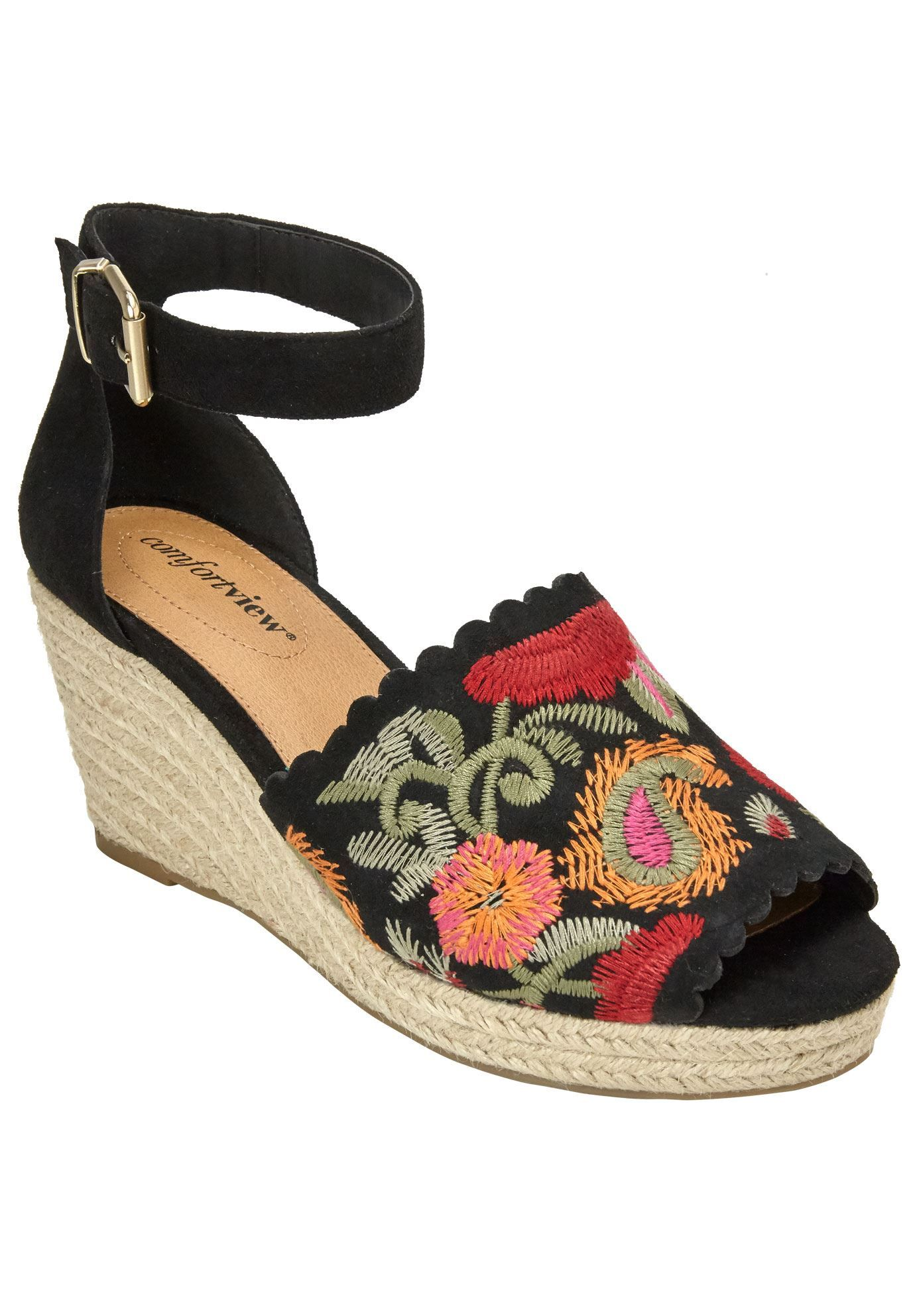35b50fba36 Astrid Espadrilles by Comfortview - Women's Plus Size Clothing Espadrille  Wedge, Slingback Sandal, Wedge