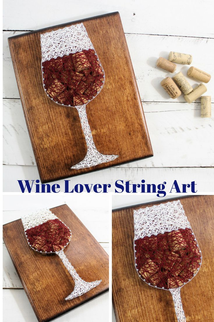 Wine wall signwine lover gift string artcork craft decorgift for