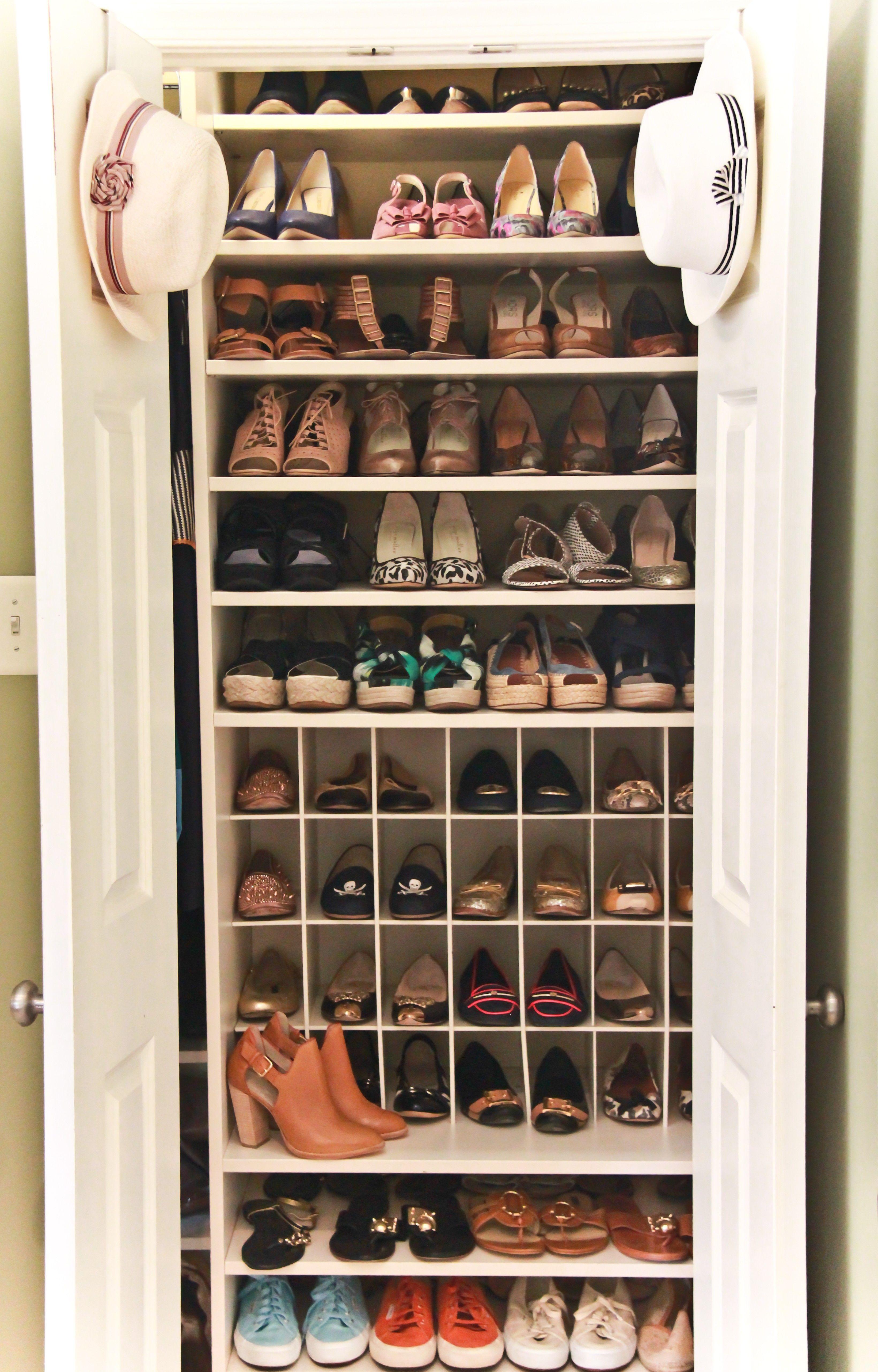 interior small walk in closets designs for shoe storage organizer