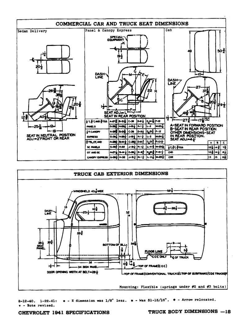 1941 Chevrolet Specifications Chevrolet, Diagram