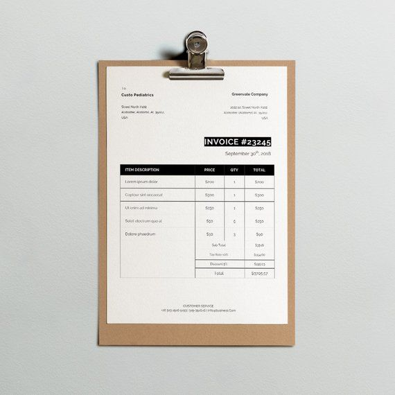 formal invoice template invoice template classic invoice etsy