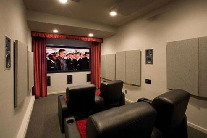 Narrow Garage Home Theater With Soundproof Walls Creating A Diyhometheater