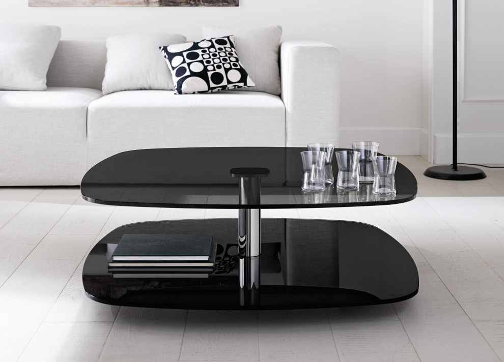 Pin On Modern Glass Coffee Tables Black glass living room furniture