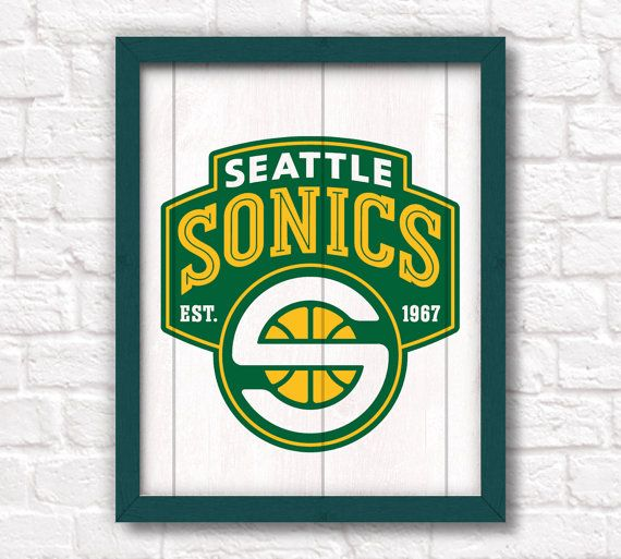 Seattle Sonics Supersonics Scrapbooking Craft Sticker Sheet Set #1
