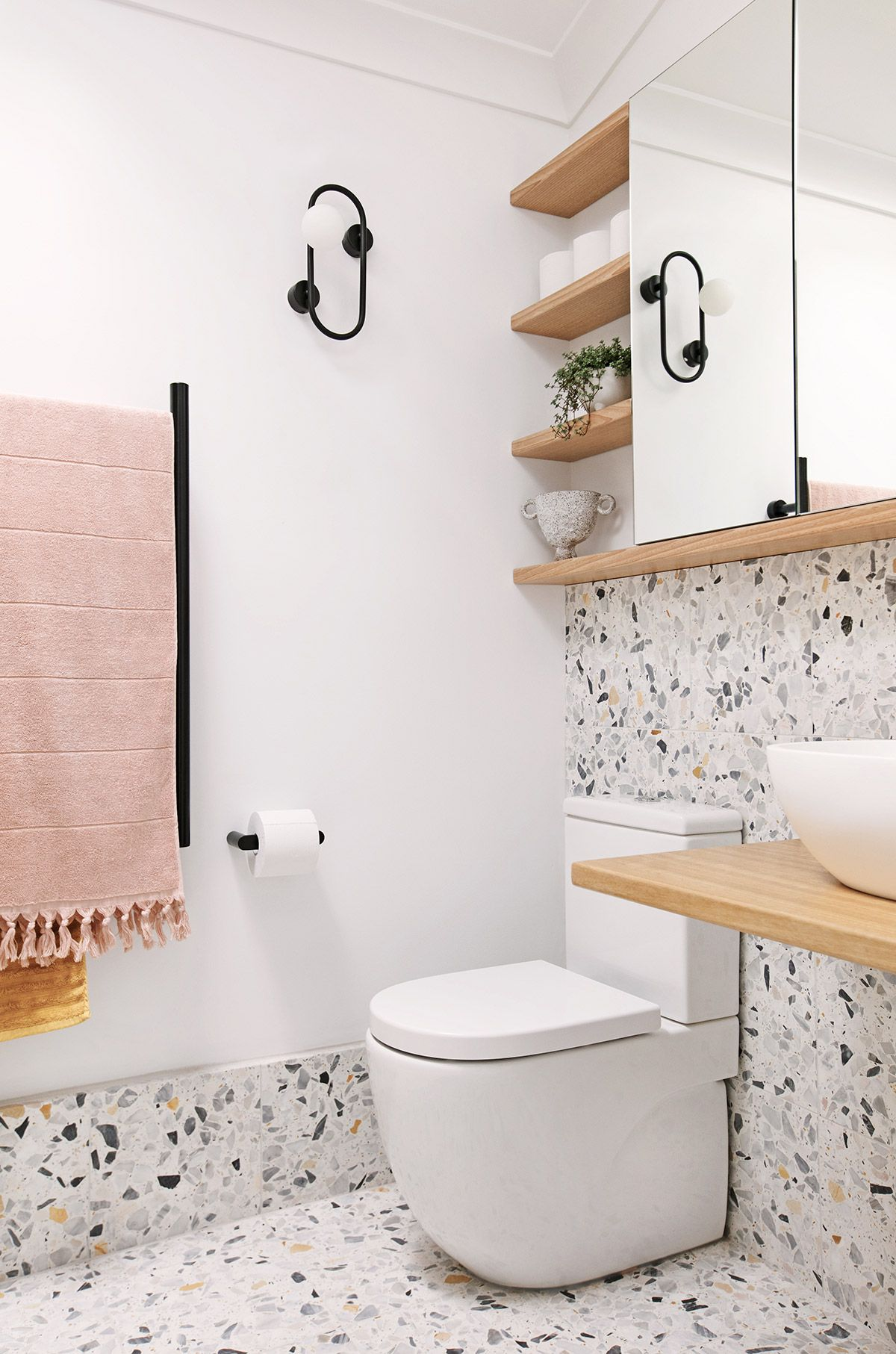 My Bathroom Renovation It S All About Terrazzo And Moroccan Tiles We Are Scout In 2020 Bathroom Interior Bathroom Renovation Bathroom Design