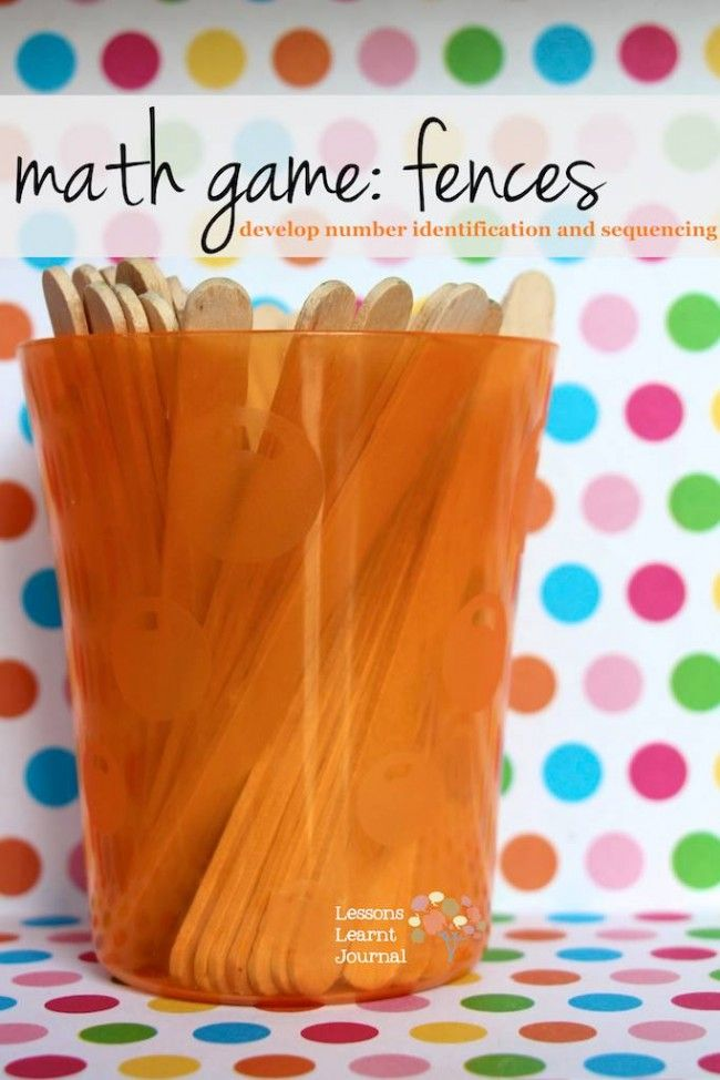 Math Games Number Fences Math numbers, Math resources and Lessons