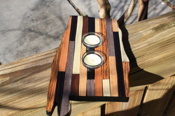 State of Alabama Wooden Tea Light Candle Holder by millcreekcrafts