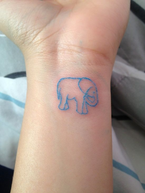 c397e3a5db2c1 elephant tattoo but with the trunk up for good luck, elephants never  forget. i will never forget.