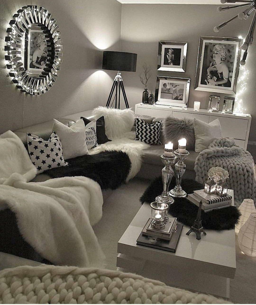 Grey Glam Living Room Ideas: 27 Rustic Farmhouse Living Room Decor Ideas For Your Home