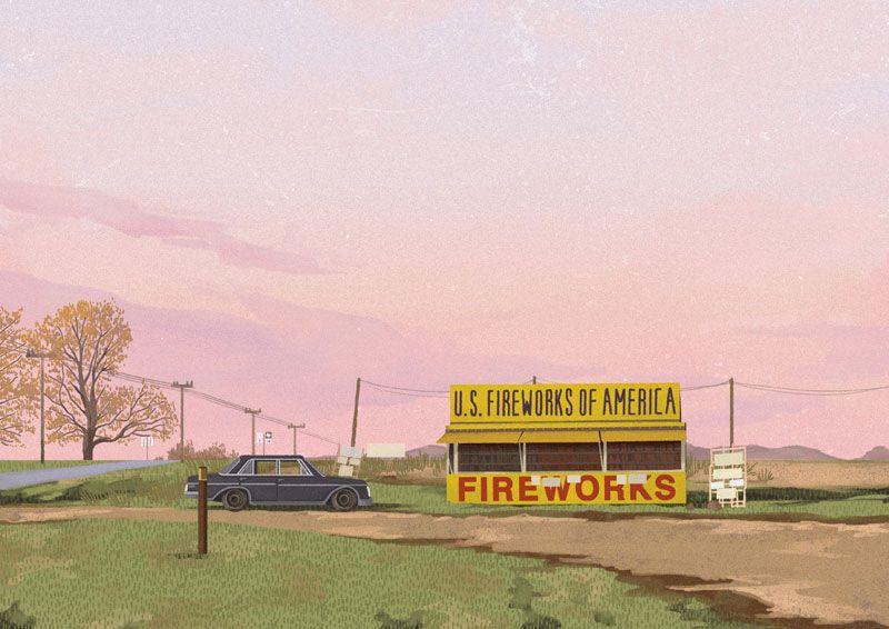 Wes Anderson Postcards by Mark Dingo Francisco