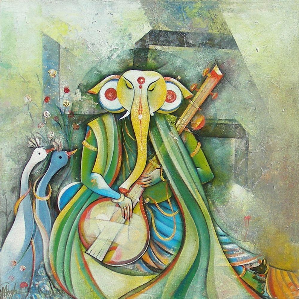 Ganesha Painting at Indian Art Ideas                                                                                                                                                                                 Plus