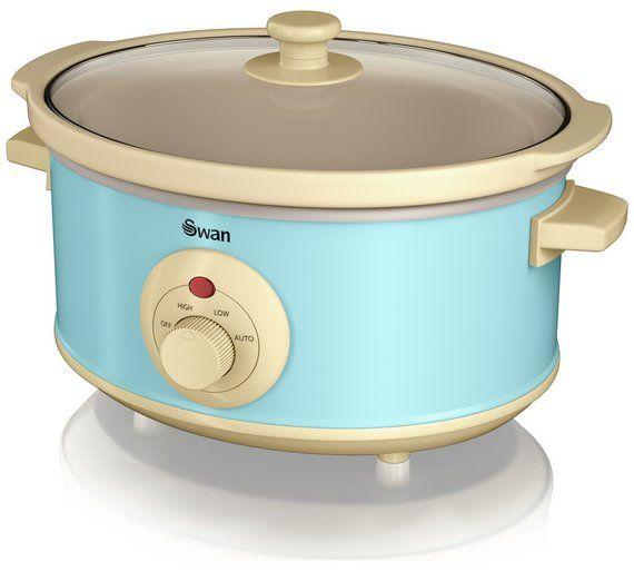 buy swan retro 3 5 litre slow cooker   blue at argos co uk      small kitchen appliancessmall     buy swan retro 3 5 litre slow cooker   blue at argos co uk   your      rh   pinterest co uk