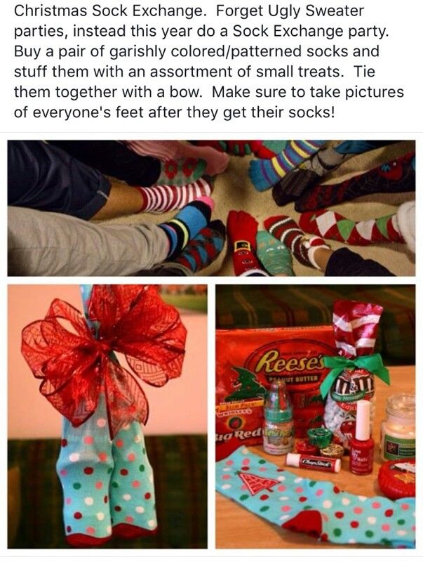Christmas sock exchange! | Christmas 2013 | Pinterest ...