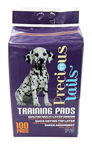 Precioustails Puppy Training Pads 100 Pack 22 X 22 Purple Read
