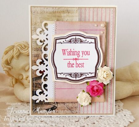 Inspired by Stamping Small Fancy Labels 3 with IBS flowers, Birthday Card, Vintage