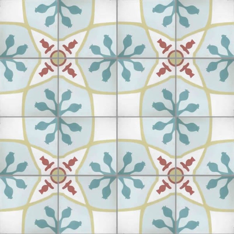 Moroccan Encaustic Cement Tile Pattern 01a Moroccan