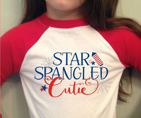 Girls July 4th commercial use design cut file silhouette studio silhouette cameo
