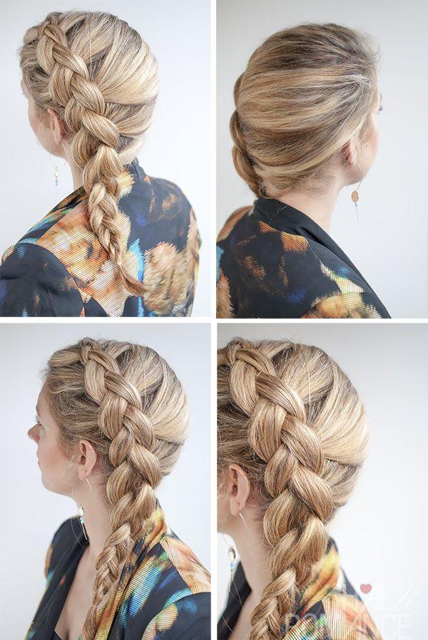 Dutch Side Braid Hairstyle Tutorial With Images Dutch Braid