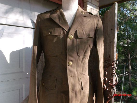US Army Olive Drab Uniform w Medical & US 4 by PoisonPuddingFaire, $79.95