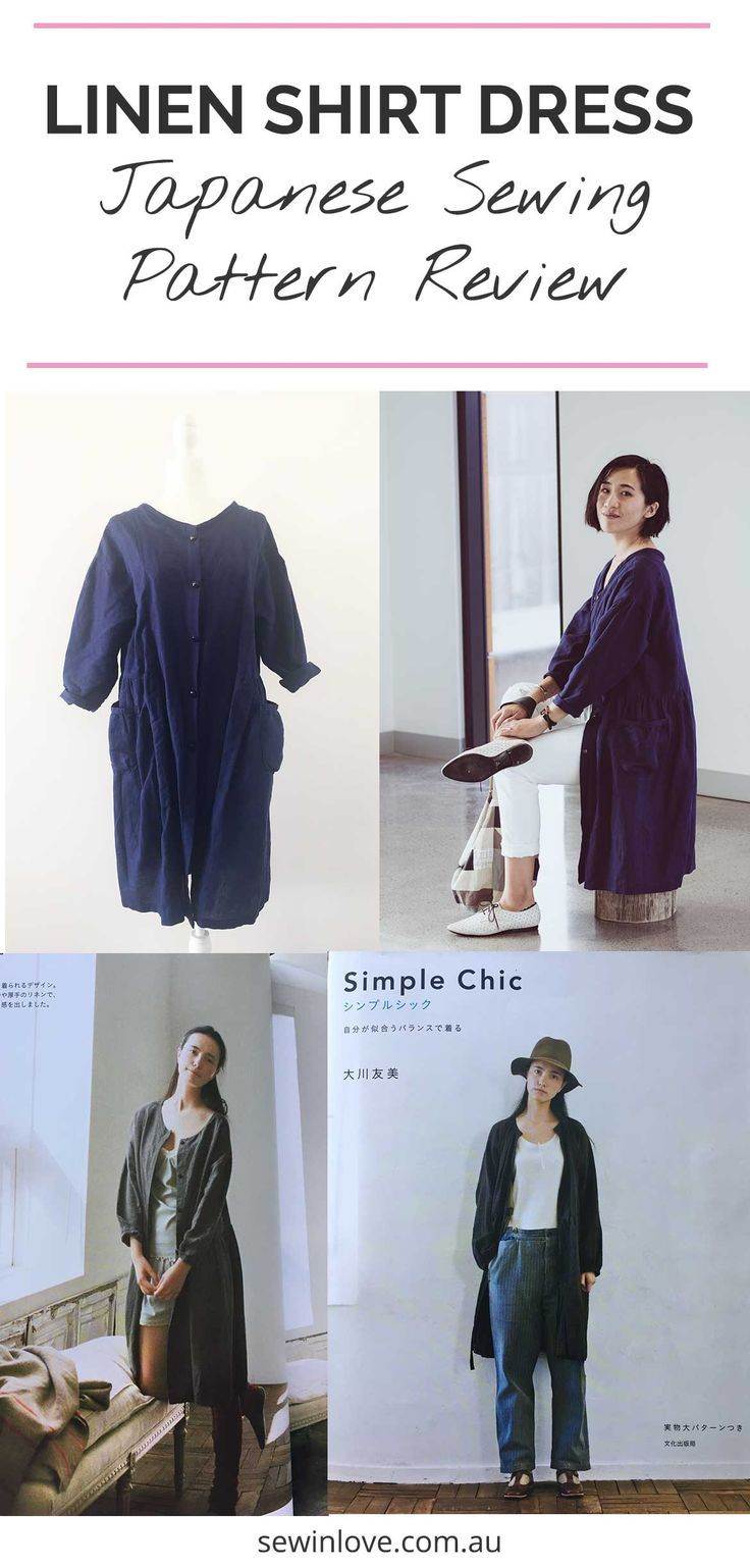 f80972a3a7 Japanese Pattern Review  Linen Shirt Dress from Simple Chic