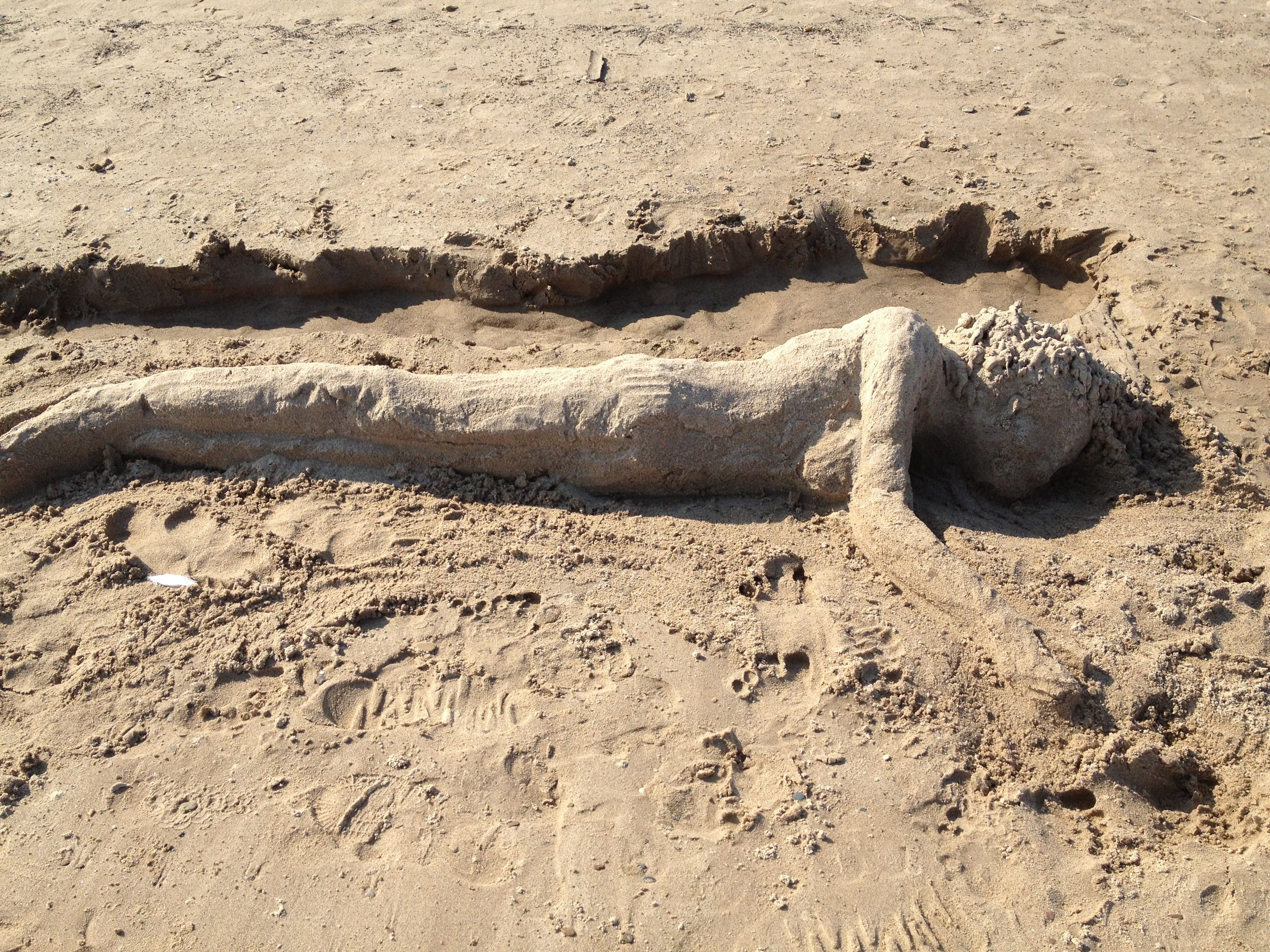 Sand Sculpture At Ogden Dunes Beach In Portage Indiana