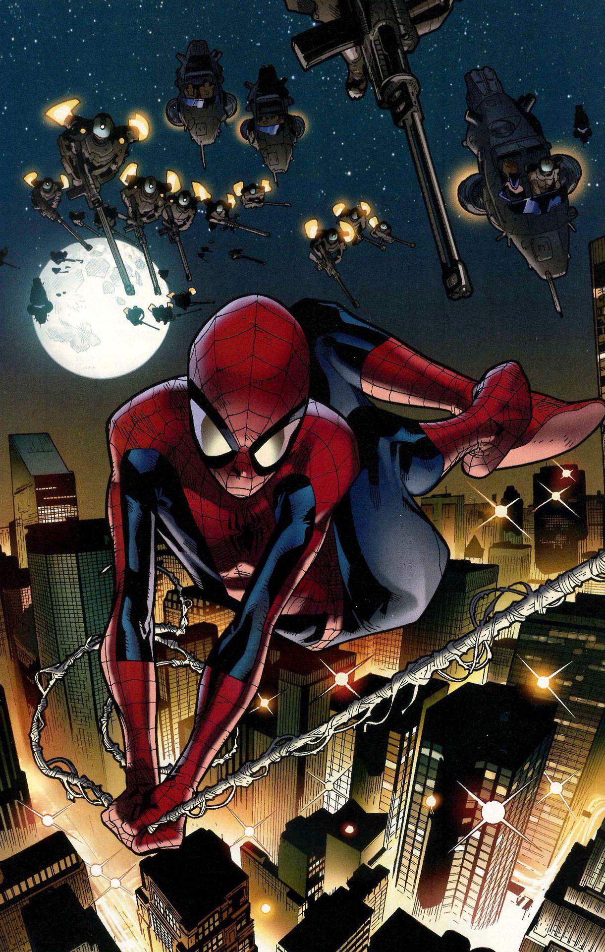 Ultimate Spider Man By Stuart Immonen Wade Von Grawbadger Ultimate Spiderman Spiderman Spiderman Comic