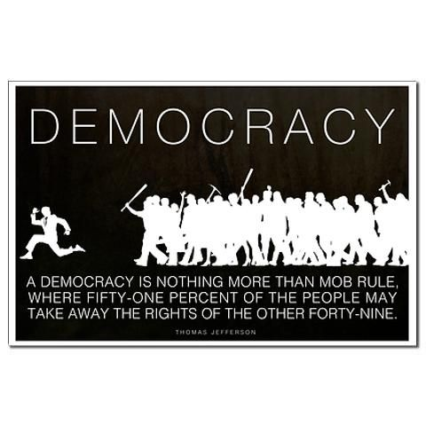 Democracy Jefferson Mini Poster Print by Liberty Maniacs - CafePress