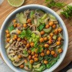 Vegan noodle soup with roasted chickpeas   - soups - #Chickpeas #noodle #Roasted #soup #soups #vegan #chickpeanoodlesoup Vegan noodle soup with roasted chickpeas   - soups - #Chickpeas #noodle #Roasted #soup #soups #vegan #chickpeanoodlesoup