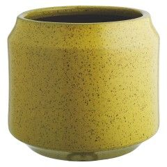 Truro Yellow Ceramic Planter 33 X 39cm Yellow Ceramics Garden Planters Pots Contemporary Planters