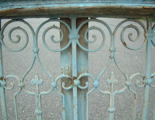 french ornamental iron   French wrought Iron window grill from Tunisia c1830
