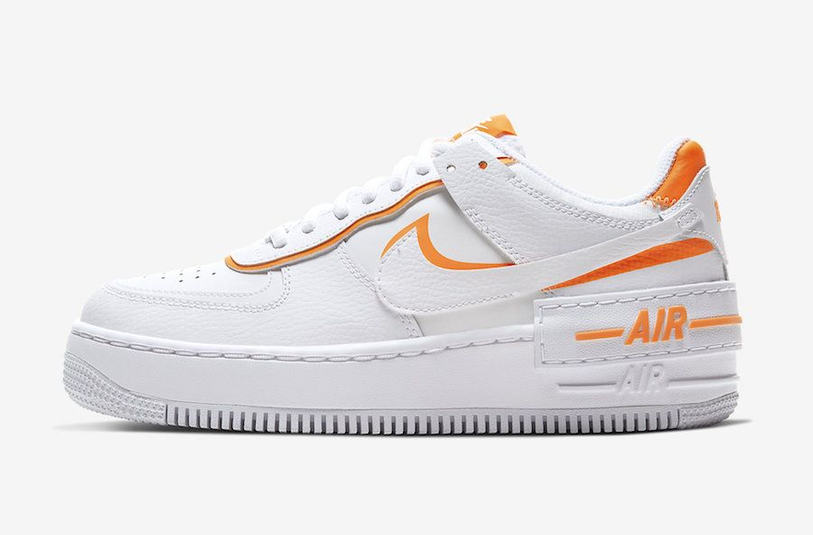 white and orange air force