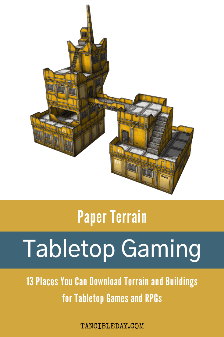 Great Papercraft Terrain for Tabletop Gaming! Easy Mode