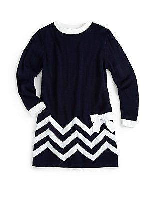 Florence Eiseman Toddler S Little Girl S Zigzag Sweater Dress