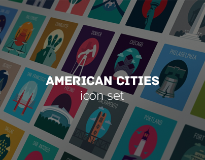 I Wanna Show You Icon Set For The Best Cities Of The Usaboston San