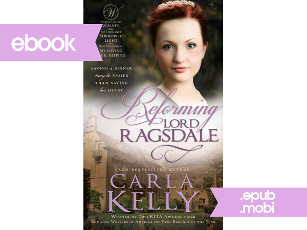 Clean regency romance by best-selling author Carla Kelly! Ebook - Reforming Lord Ragsdale by Carla Kelly $0.99 (75% off!) sale at LDSLoot.com. (Sale lasts Fri Nov 26 - Mon Dec 1, 2014. Purchase for full price at Amazon: http://4rt.cc/1ruSdWD)